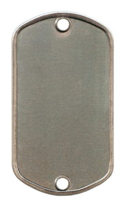 RVS – Zilver met 2 gaten (O)
