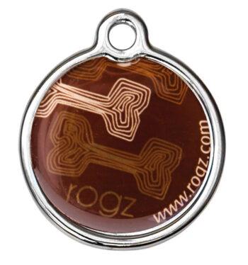 RogZ ID Tag Large Metal Mocha Bone