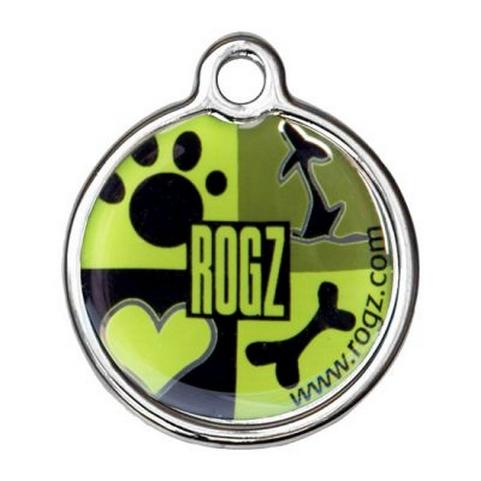 Lime Juice Rogz passport ID tagz metaal hondenpenning bij Hondenpenning.net AMIGOS en HETDIER.nl