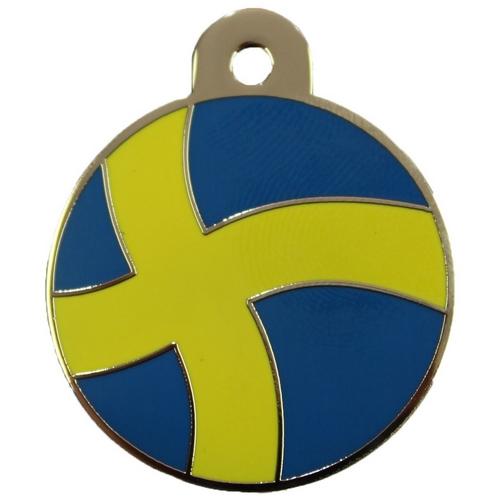 Hondenpenning Zweden vlag hetdier hondenpenning animalwebshop