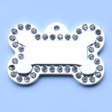 Hondenpenning bot glamour bone silver animalwebshop hondenpenning 2
